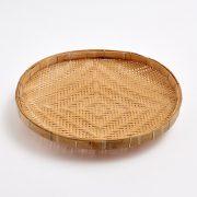 Bamboo Basket Tray 35 cm