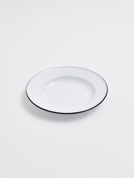 White Enameled Plates L Design And Home Deco
