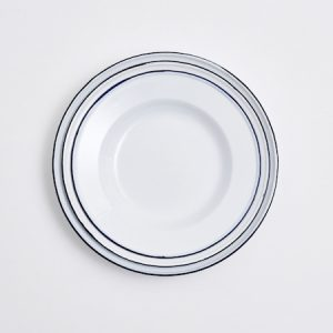 White Enameled Plates
