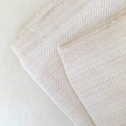Manta de algodón beige