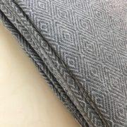 Manta algodón gris