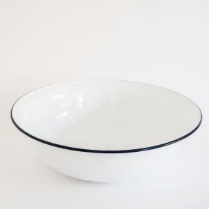 White Enameled Basin