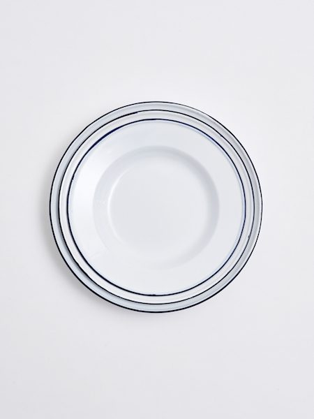 White Enameled Plates