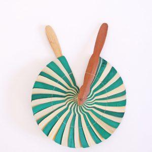 Abanico Circular Verde